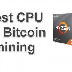 CPU for Bitcoin mining