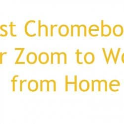 Chromebooks for Zoom to Work from Home