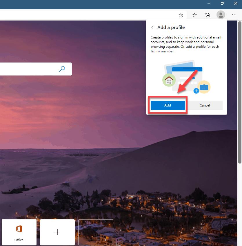 click add
