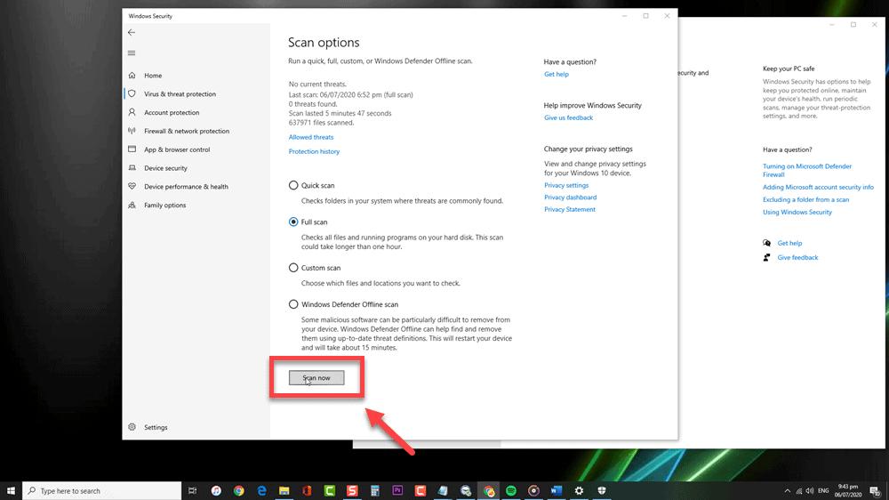 Remove Kovter Malware Using Windows Defender