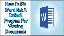 Word Not A Default Program